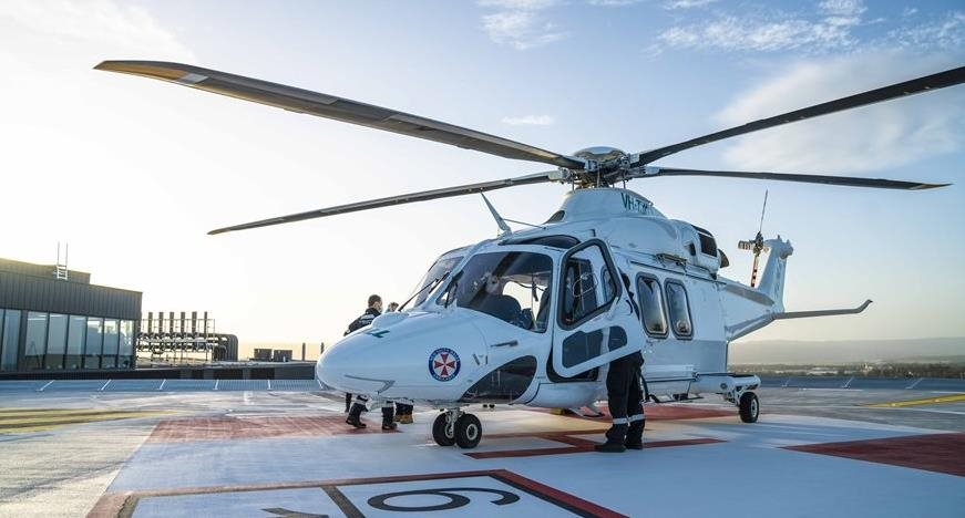 First helicopter landing on Nepean Hospital's new tower