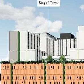 Stage 1 hospital tower